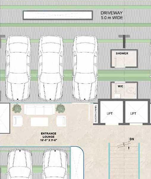 m3m gold rush floors stilt plans