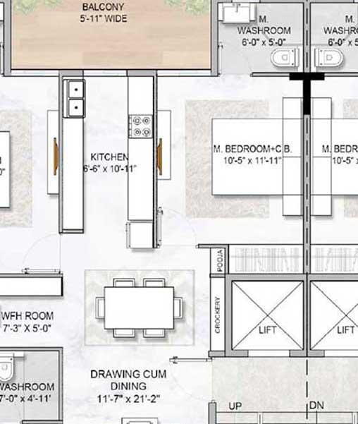 m3m gold rush floors typical floor plans