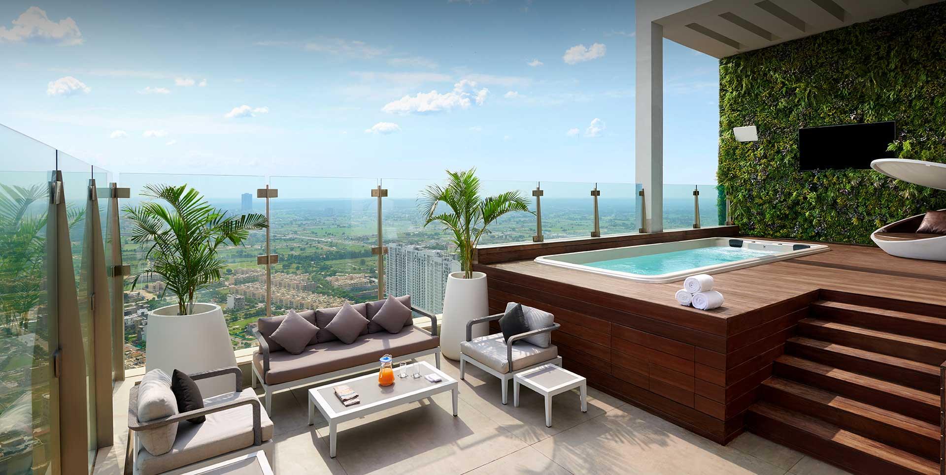 M3M Sky Suites Terrace View